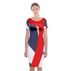 Beautiful abstraction Classic Short Sleeve Midi Dress