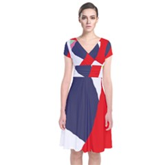 Beautiful abstraction Short Sleeve Front Wrap Dress