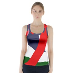 Beautiful Abstraction Racer Back Sports Top