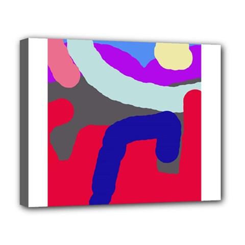 Crazy abstraction Deluxe Canvas 20  x 16