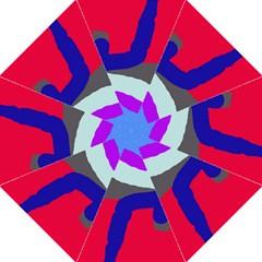 Crazy abstraction Hook Handle Umbrellas (Medium)