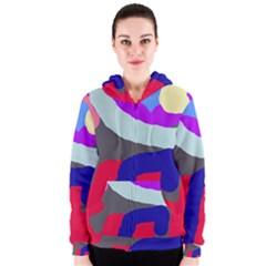 Crazy abstraction Women s Zipper Hoodie