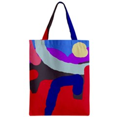 Crazy abstraction Zipper Classic Tote Bag