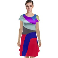 Crazy abstraction Cap Sleeve Nightdress