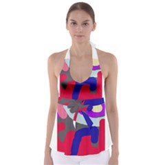 Crazy abstraction Babydoll Tankini Top
