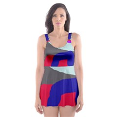 Crazy Abstraction Skater Dress Swimsuit