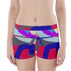 Crazy Abstraction Boyleg Bikini Wrap Bottoms