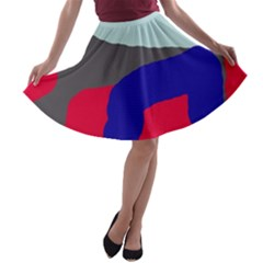 Crazy abstraction A-line Skater Skirt