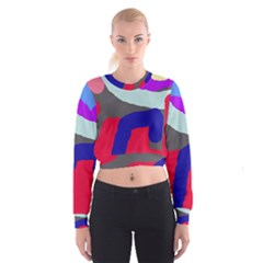 Crazy abstraction Women s Cropped Sweatshirt