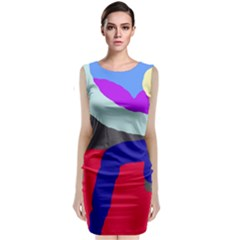 Crazy abstraction Classic Sleeveless Midi Dress