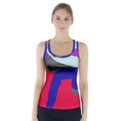 Crazy Abstraction Racer Back Sports Top