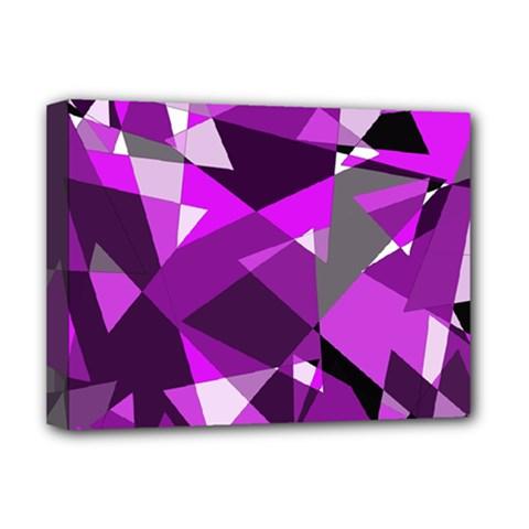 Purple broken glass Deluxe Canvas 16  x 12