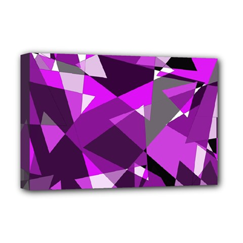 Purple broken glass Deluxe Canvas 18  x 12