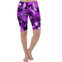 Purple broken glass Cropped Leggings