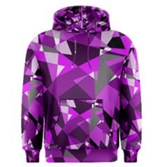 Purple broken glass Men s Pullover Hoodie