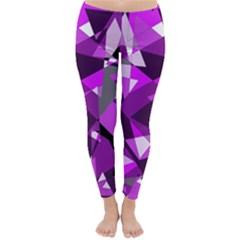 Purple broken glass Winter Leggings