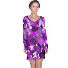 Purple broken glass Long Sleeve Nightdress