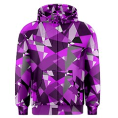 Purple broken glass Men s Zipper Hoodie