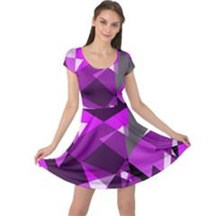 Purple broken glass Cap Sleeve Dresses