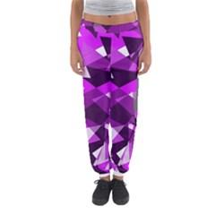 Purple broken glass Women s Jogger Sweatpants