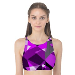 Purple broken glass Tank Bikini Top