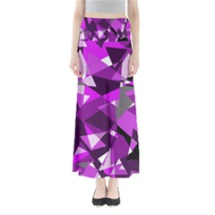 Purple broken glass Maxi Skirts