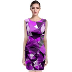 Purple Broken Glass Classic Sleeveless Midi Dress