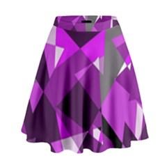 Purple Broken Glass High Waist Skirt