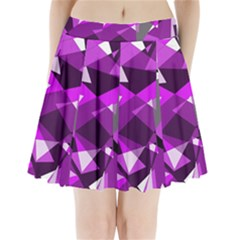 Purple broken glass Pleated Mini Mesh Skirt