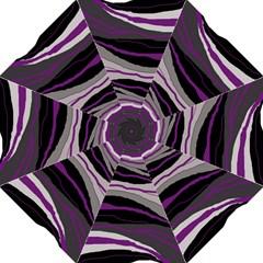 Purple and gray decorative design Straight Umbrellas