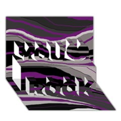 Purple and gray decorative design You Rock 3D Greeting Card (7x5)