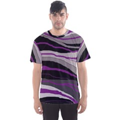 Purple and gray decorative design Men s Sport Mesh Tee
