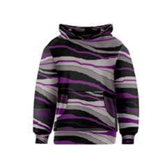 Purple and gray decorative design Kids  Pullover Hoodie