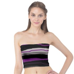Purple and gray decorative design Tube Top