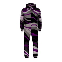 Purple and gray decorative design Hooded Jumpsuit (Kids)