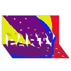 Optimistic abstraction PARTY 3D Greeting Card (8x4)