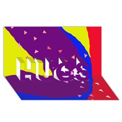 Optimistic abstraction HUGS 3D Greeting Card (8x4)