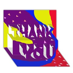 Optimistic abstraction THANK YOU 3D Greeting Card (7x5)