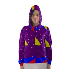 Optimistic abstraction Hooded Wind Breaker (Women)