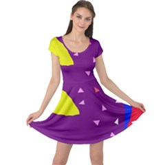 Optimistic abstraction Cap Sleeve Dresses