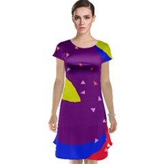 Optimistic abstraction Cap Sleeve Nightdress