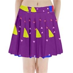 Optimistic Abstraction Pleated Mini Mesh Skirt