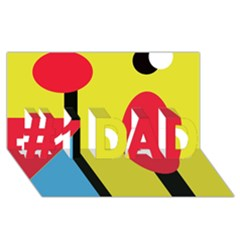 Abstract landscape #1 DAD 3D Greeting Card (8x4)