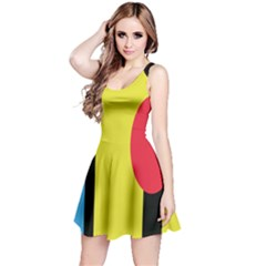 Abstract landscape Reversible Sleeveless Dress