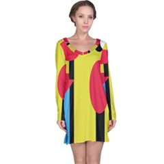 Abstract landscape Long Sleeve Nightdress