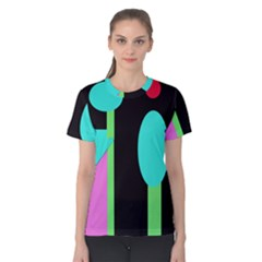 Abstract landscape Women s Cotton Tee