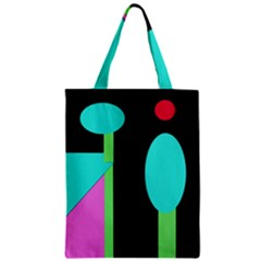 Abstract landscape Zipper Classic Tote Bag