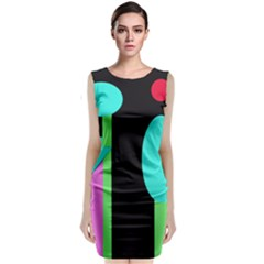 Abstract landscape Classic Sleeveless Midi Dress