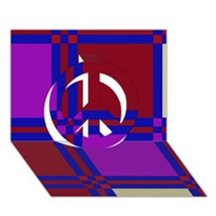 Deorative design Peace Sign 3D Greeting Card (7x5)