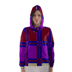 Deorative design Hooded Wind Breaker (Women)